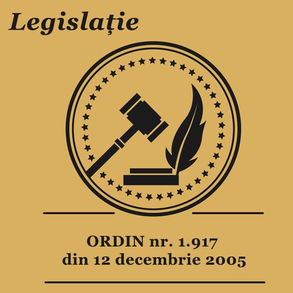 ORDIN nr. 1.917 din 12 decembrie 2005