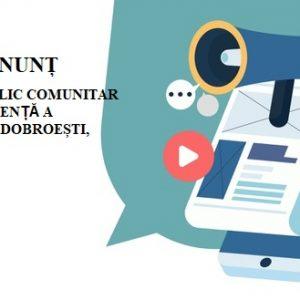 Anunț: Serviciul public comunitar local de evidență a persoanelor Dobroești, transmite următoarele:
