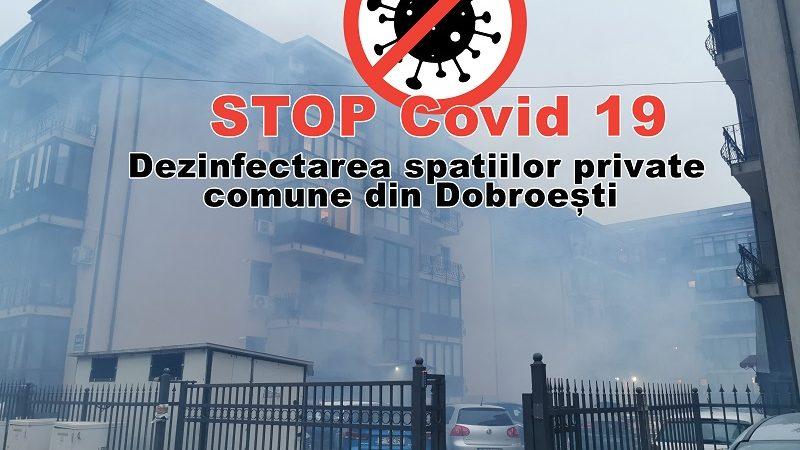 Dezinfectarea spatiilor private comune  din Dobroești