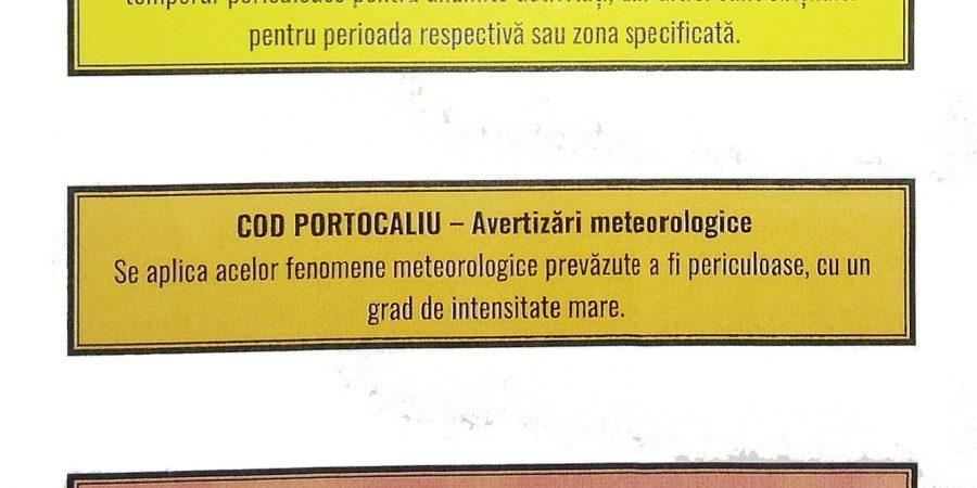 AVERTIZARE METEOROLOGICA