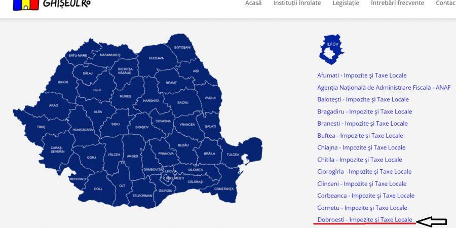 Începând de astăzi, 11.06.2020, cetățenii din Dobroești își pot achita taxele și impozitele locale prin intermediul portalului www.ghiseul.ro.