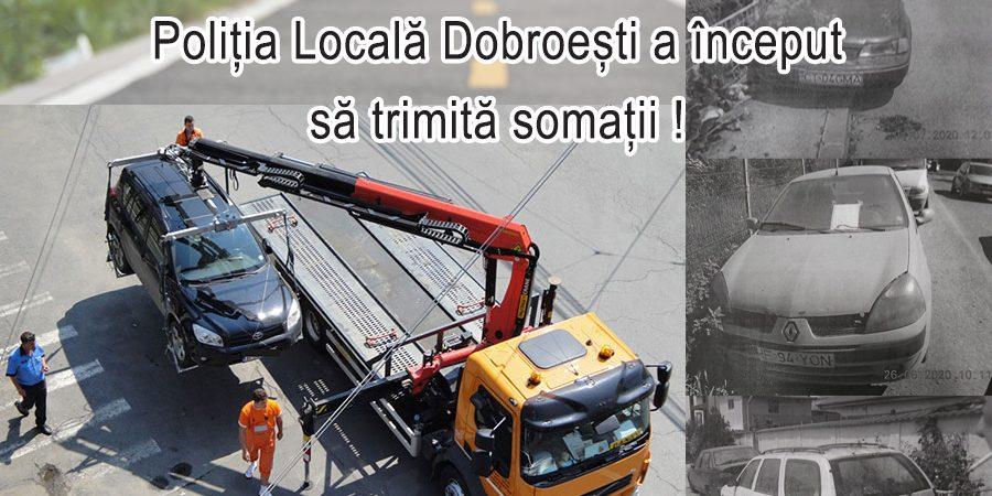 În Dobroești se vor ridica mașinile abandonate.