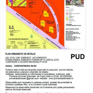Plan Urbanistic Detaliu Drumul Dobroesti-Fundeni nr. 12